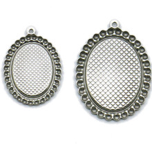 10pcs 18x25mm Stainless Steel Pendant Settings Cabochon Base Bezel Trays Blank Fit Cabochons Cameo DIY Findings 10pcs fit 12mm stainless steel cameo glass cabochon metal bezel french lever blank base earring back for diy jewelry findings