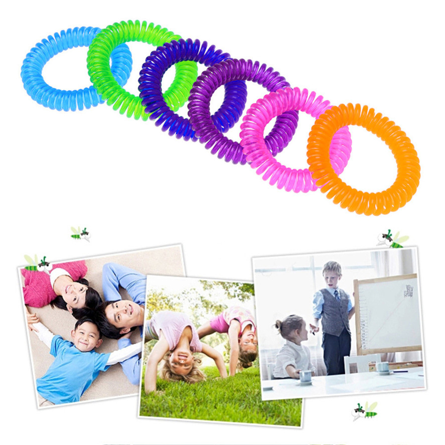 Outdoor Mosquito Repellent Bracelets 5PCS Anti Mosquito Insect Repellent Wrist Hair Band Bracelet Camping Outdoor 25