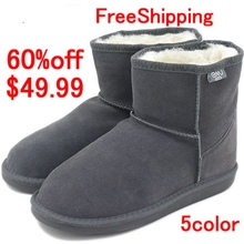 Australia mouton boots EMU Bronte Mini(W20003) 100% merino Wool inner with Cow-Suede Genuine Leather outer Snow Boots