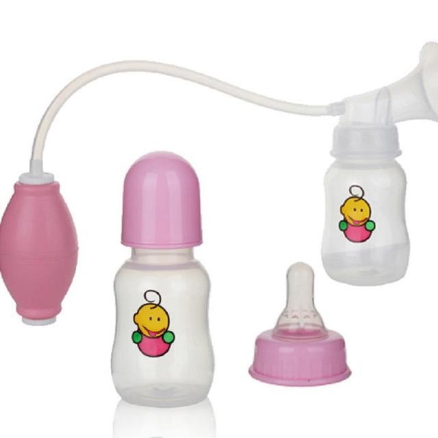 Nuevo Material Pp Bomba de Leche Extractor de Leche Manual de Bebé de Alimentación de Succión Del Pezón Del Seno