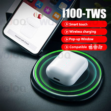 i100 TWS Pop up 1:1 Replica Air2 size Wireless Charging Bluetooth Earphone PK w1 chip i20 i30 i80 tws Earbuds For iOS Android