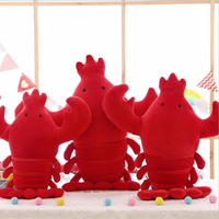 Creative Lovely Red Simulated Lobster Short Plush Toys Stuffed Animal Toy Plush Pillow Children Birthday Gifts