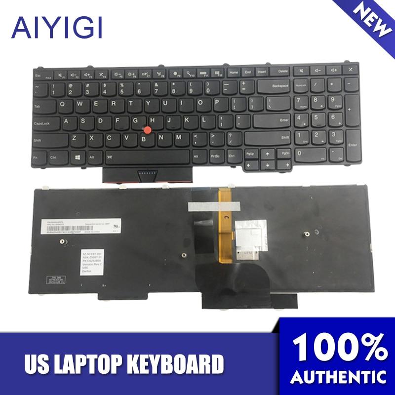 AIYIGI Original US Clavier BL Rétro-Éclairage 3 Vis Colonne Pour ThinkPad P50 P70 BP500 BP700 FRU 00PA288 00PA370 Ordinateur Portable Accessoires