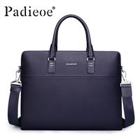 Padieoe Luxury Brand Business Male Briefcase Men S Genuine Leather Travel Handbags High Quality Casual Shoulder