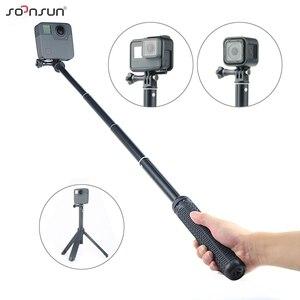 Image 4 - Soonsun 3in1 Opvouwbare Statief Uitschuifbare Monopod Pole Hand Grip Selfie Stick Voor Gopro Hero 9 8 7 6 5 4 voor Dji Osmo Accessoire