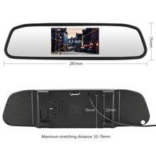 Автомобильное зеркало заднего вида монитор HD видео Авто парковочный монитор TFT ЖК-экран 4,3 дюймов Камера заднего вида