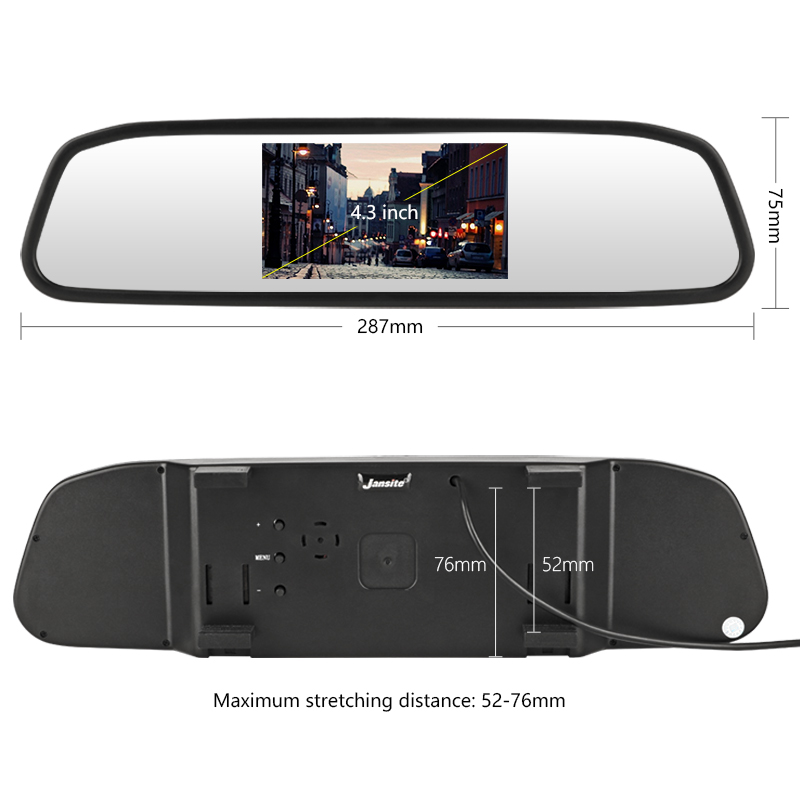 Auto Rückspiegel Monitor HD Video Auto Parkplatz Monitor TFT LCD Bildschirm 4,3 zoll Auto Rückansicht display Kameras