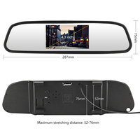 Car Rearview Mirror Monitor HD Video Auto Parking Monitor TFT LCD Screen 4.3 inch Car Rear View display Cameras