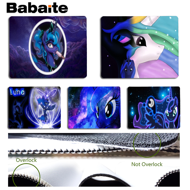 Babaite Vintage Cool For MLP Large Mouse pad PC Computer mat Size for 18x22cm 25x29cm Rubber Mousemats