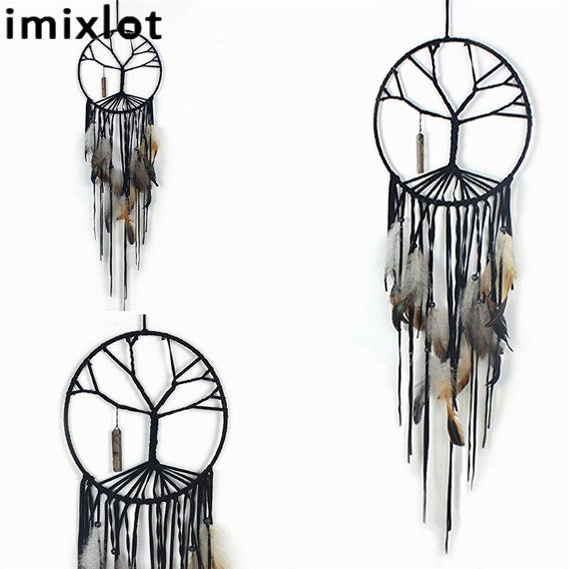 Imixlot Moda Hindistan Retro Hayat Ağacı Tüy Dream Catcher Rüzgar - Ev Dekoru - Fotoğraf 4