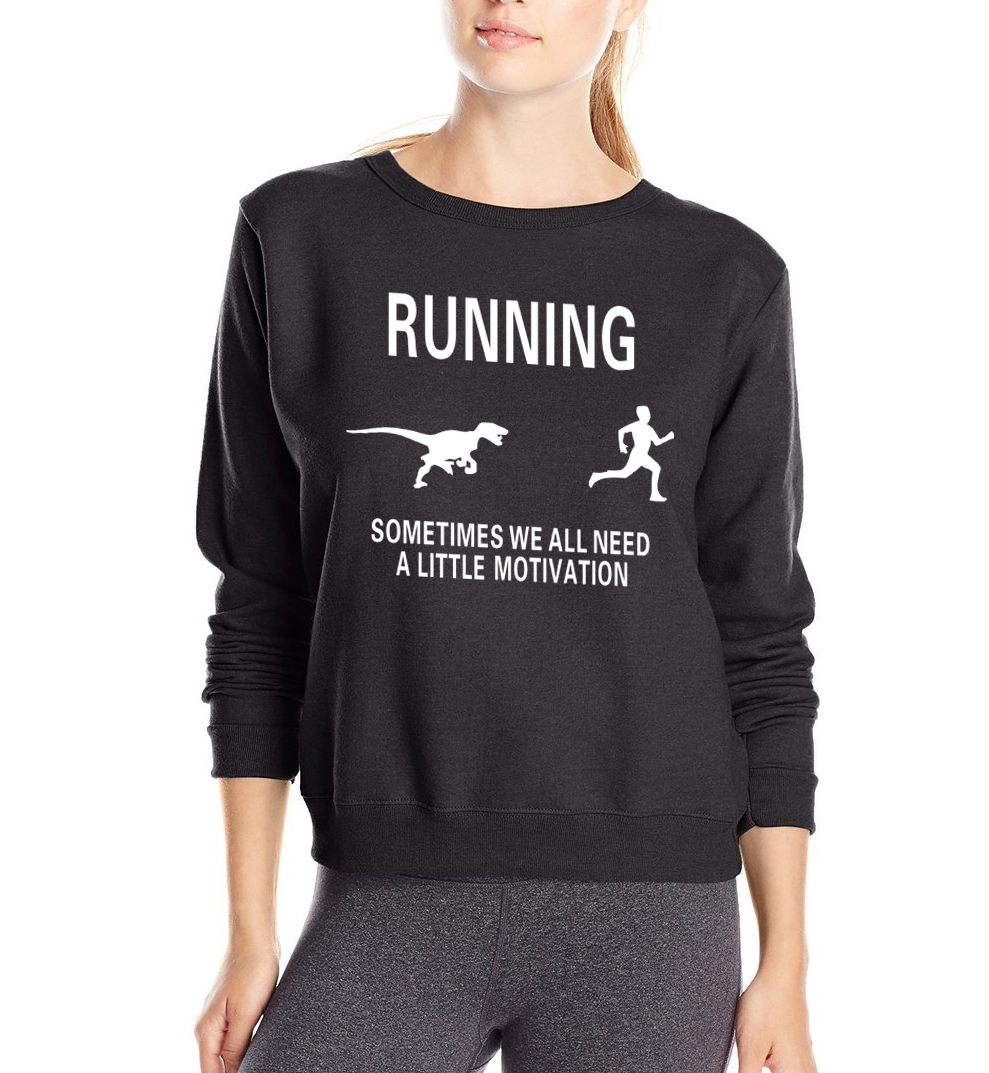 Women Motivation Letters Funny sweatshirt Motivate Runners print 2019 hot spring loose fit suits fashion brand harajuku hoodies