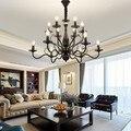 Vintage kronleuchter kerze licht Amerikanischen land wohnzimmer schlafzimmer lampe restaurant eisen kronleuchter vintage kronleuchter E14 lampe|Pendelleuchten|   -
