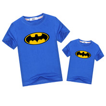 25b1d5219305 Batman logo Family Matching outfits kid fashion match tops father son  cartoon look t-shirt boys dad clothes short sleeve tees