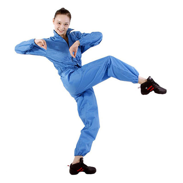 Женщины Костюм Сауна Потеря Веса Плюс Размер Сауна Костюмы Тренировки (брюки + Пальто) похудения Одежда Ремни Диета Сауна Тренировочный Костюм