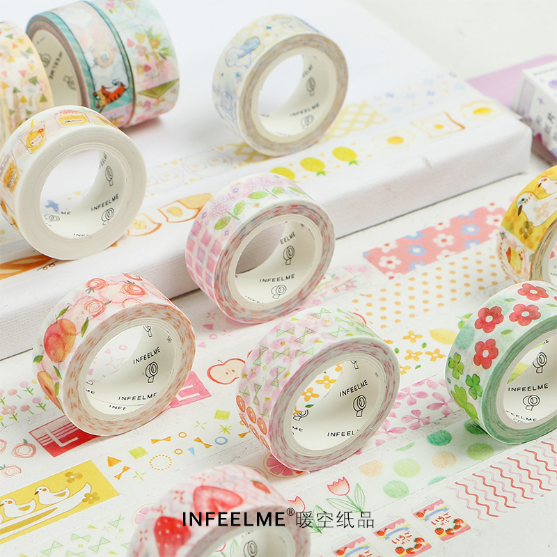 Cute Animals Flowers Washi Tape Diy Decoration Scrapbooking Planner Masking Tape Label Sticker Stationery