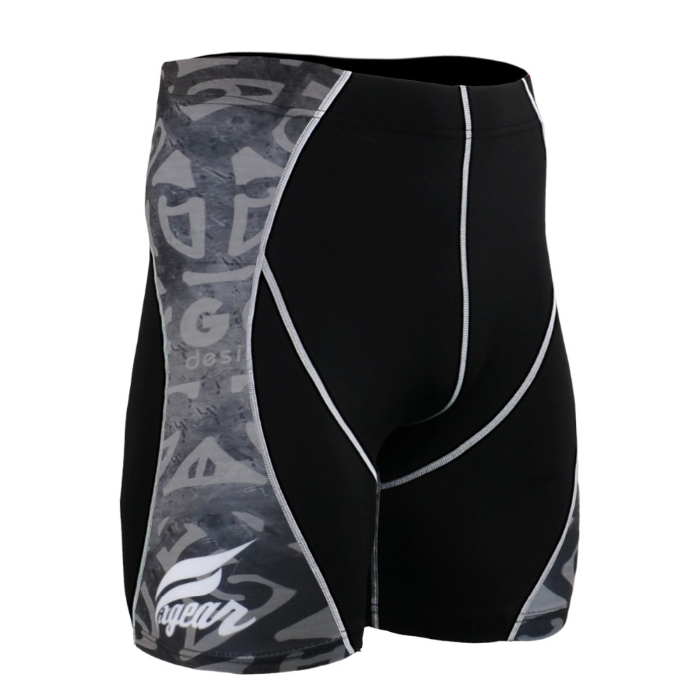 Mens Shorts Stretch Compression Quick Dry Slim Fit Utility Shorts Summer Breathable Base Layer Male Gym MMA Training Short Pants