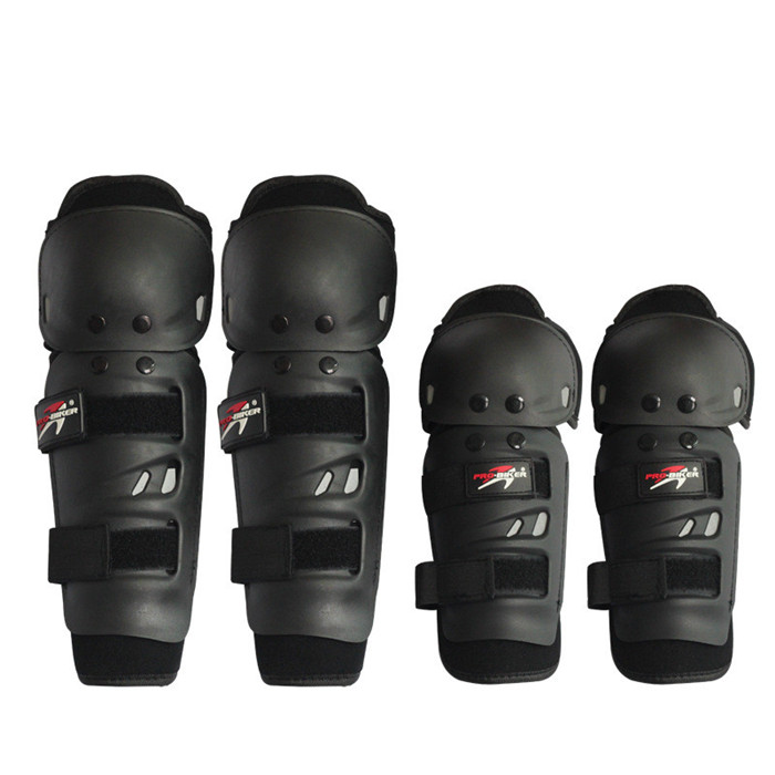 4PcsSet Motorcycle Kneepad  Moto Elbow Knee Pads Motocross Racing Protective Gear Protector Guards Kit