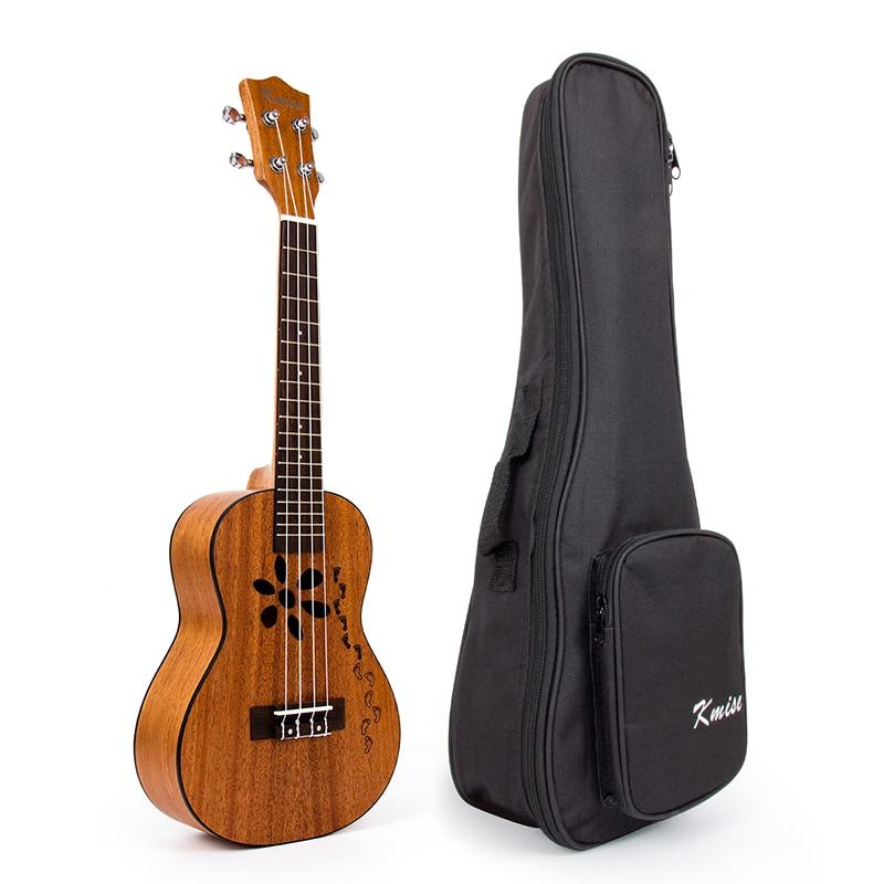 Kmise Concert Ukulele Mahogany Ukelele Uke 23 inch 18 Frets 4 String Hawaii Guitar with Gig Bag