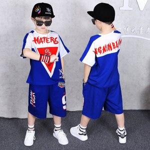 Image 5 - Kinderen Kleding Sport Pak Jongen Zomer Set Twee stuk Kinderkleding stiksels pak 4 6 8 10 12 14 16 jaar oude Kind kleding