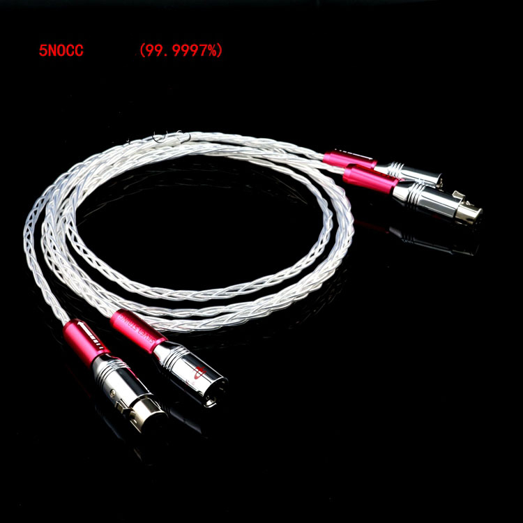1 Pair Y 8 Hifi XLR Cable Pure 5N OCC Silver plated Audio Cable With XLR