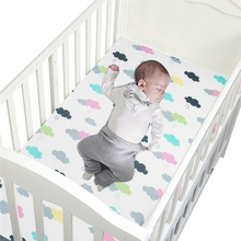 New Cotton Baby Crib Sheets Soft Baby Crib Fitted Sheets Breathable Baby Bed Mattress Cover Potector Newborn Bedding for Cot