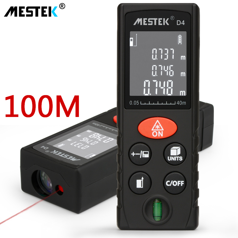 MESTEK 40/60/100m Laser Rangefinder Digital Trena Laser Distance Meter Laser Range Finder Tape Distance Measure Range Finder szs hot laser guide ultrasonic distance measure range finder 15m ms6450
