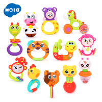 12pcs/Lot Baby Toys Animal Handbells Developmental Toy Hand Shake Bed Bells Kids Educational Toys Baby Rattle Xmas Gifts