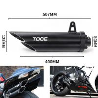 36 51mm High quality Universal Motorcycle Double Exhaust Muffler Pipe for toce exhaust z800 gsxr750 zx10r R1 R6 z900 cbr1000rr