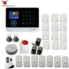 YoBang Security WIFI GPRS SMS 3G WCDMA/CDMA Alarm System Wireless Security PIR Motion Door Window Sensor 3G Home Alarm Control