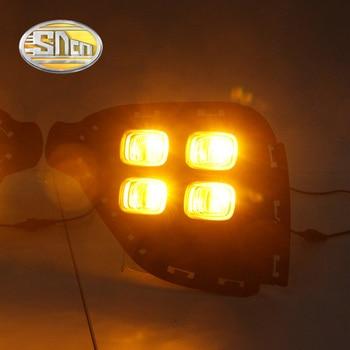 2Pcs For Hyundai Creta IX25 2017 2018 LED Daytime Running Light South American version fog DRL with yellow turning signal lamp