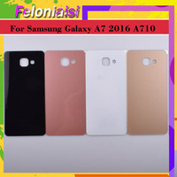 case samsung galaxy 10Pcs/lot For Samsung Galaxy A7 2016 A710 A710F SM-A710F Housing Battery Door Rear Back Glass Cover Case Chassis Shell Replaceme (2)