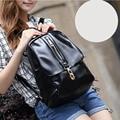 2016 Quality Big Black Girls Backpack Travel Shoulder Bag Casual Backbag PU Leather Women Computer Backpack Small School Bag