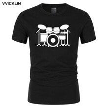Новое поступление, комплект барабанщика, футболка для взрослых, Мужская забавная одежда, хлопковая футболка с короткими рукавами, топы с роллером в стиле рок, большие размеры