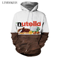 2018 Nutella Pattern Men Women Hoodies Couples Casual Style 3D Print Personality Autumn Winter Sweatshirts Hoody