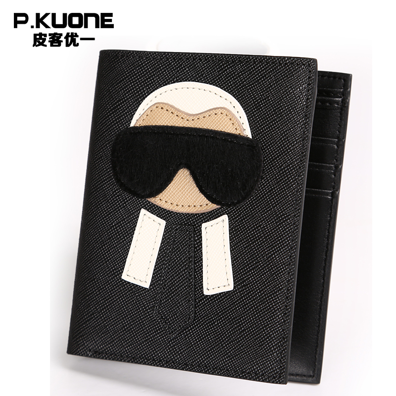 P.KUONE 2018 Fashion Cowhide Leather Wallet High Quality Big Capacity New Design The Top Men And Women Luxury Famous Brand Purse wallet