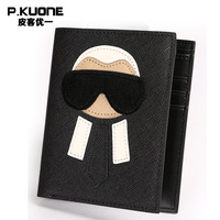 P.KUONE 2018 Fashion Cowhide Leather Wallet High Quality Big Capacity New Design The Top Men And Women Luxury Famous Brand Purse