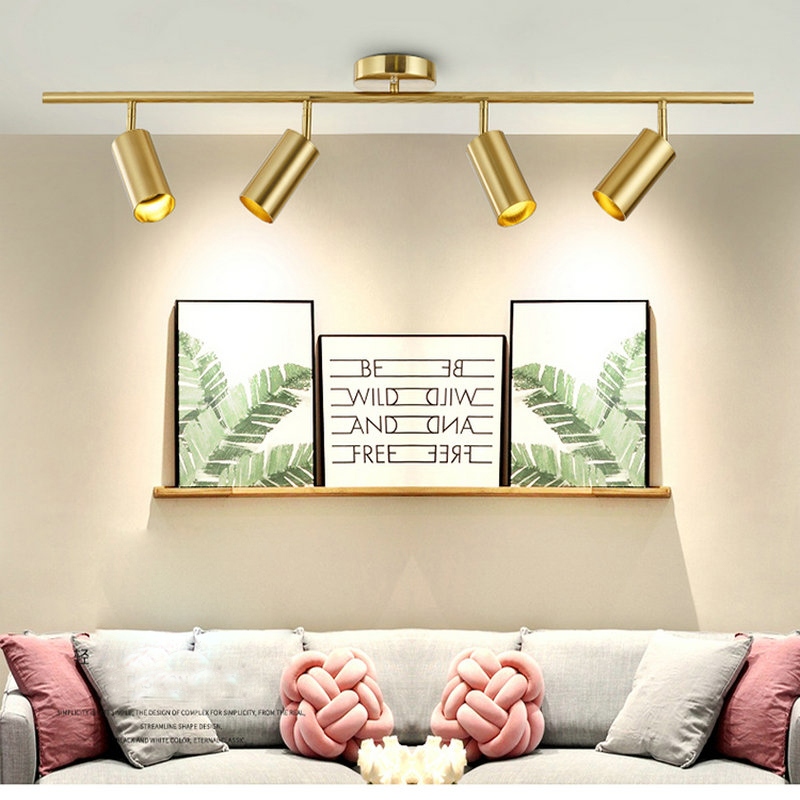 US $42.5 15% OFF|Nordic Gold Wall Mounted led Ceiling Light Living Room  Dining Room Home Spot Light Cloakroom Clothing Store Cafe led Lighting-in  ...