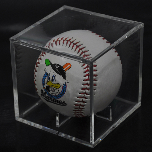 Acrylic 9 Inch Baseball Box Display Golf Tennis Ball Transparent Case for  Souvenir Storage Box Holder UV Protection Dustproof 3