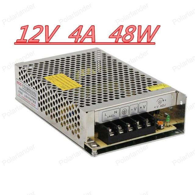 Alta calidad AC a DC fuente de alimentación del led 12 V 4A LED fuente de alimentación del interruptor 48 W LED driver expreso envío gratis