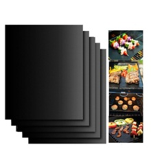 5Pcs Teflon Non-stick Reusable BBQ Grill Mats Sheet Baking Mat for Barbecue Cooking Outdoor Accessories 40*33CM