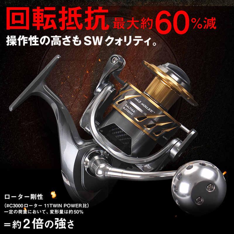 MAD Chuột Cao Cấp Hàng Mới Về Nhật Bản Sản Xuất BJ4000-BJ10000 Quay Jigging Máy 12BB Hợp Kim Cuộn 35kgs Kéo Công Suất