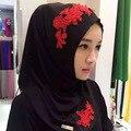 2016 flores de La Manera bufanda de las mujeres de poliéster de alta calidad Turco Indonesio hijab musulmán de las mujeres headwear de la muchacha gorra de