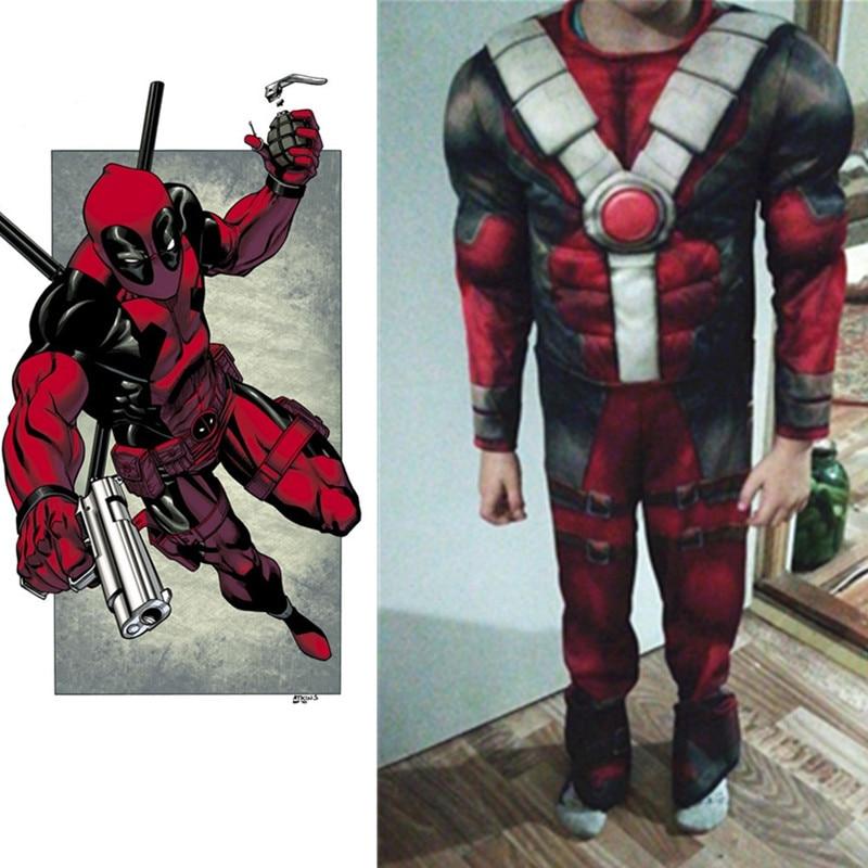 Neue Ankunft Deluxe Jungen Marvel Deadpool Flash Thor Kostüm Kinder Muscle Film Halloween Karneval Party Cosplay Kostüme