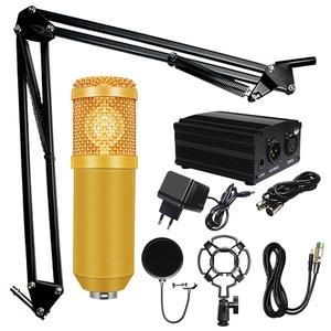 Image 5 - Profissional microfone bm 800 karaoke microfone condensador kits de microfone pacote microfone para gravação de estúdio computador