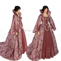 Tailored!Luxs Pink 18th Century Duchess Renaissance Gothic Theater Victorian Gown Ball Dress Reenactment dresses HL 193