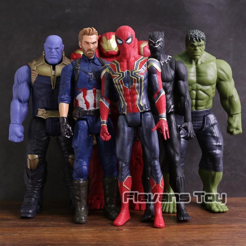 Avengers Infinity Guerra Titan Hero Serie Thanos Iron Spider Captain America Black Panther Hulk Hulkbuster Action Figure Toy 12