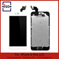 5 pcs/lot Black&White For iphone 6 Plus 5.5 LCD Touch Screen digitizer + Home button + Front camera Assembly Free Shipping