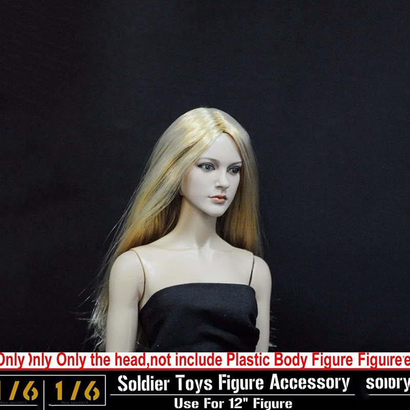ФОТО  1:6 Popular  Action Figure CG CY Girl Female Head Sculpt Soldier Doll Toys