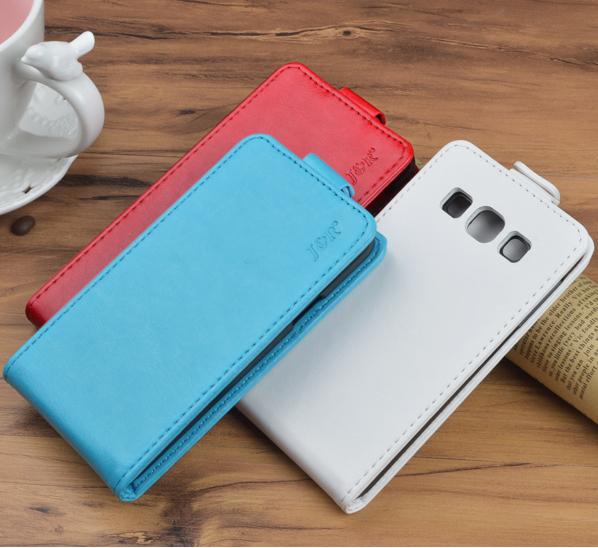 Top Quality Flip PU Leather Case for Samsung Galaxy A5 A500 SM-A500F Cover Shell Vertical Magnetic Phone Bag JR Brand 9 colors