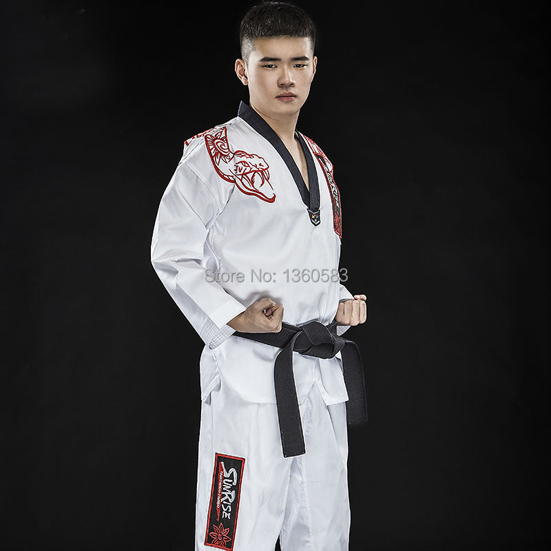 New High-end adult Taekwondo dobok cotton bamboo fiber Taekwondo uniforms men women WTF TKD clothes embroidery python clothing pegasus tianm genuine original 3 5 inch lcd screen tm035kvhg01